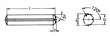 Zylinderkerbstift 8x25