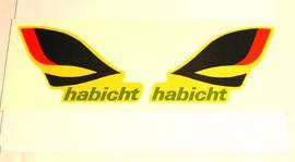 Abziehbild Emblem für Simson- Habicht am Rahmen