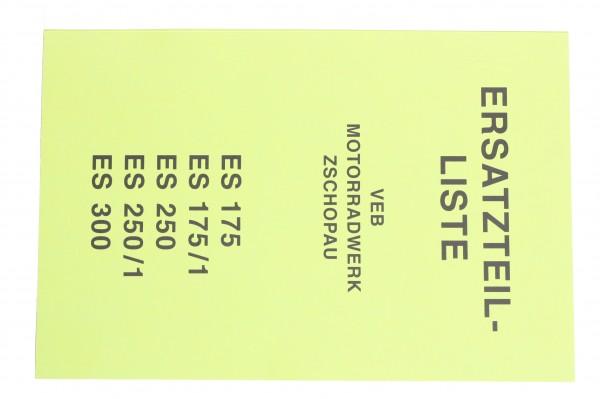 Ersatzteilliste ES 175/250, 175/1, 250/1, 300