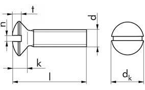 Linsensenkschraube M4x12