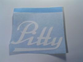 """Schriftzug """"Pitty"""", passend für IWL-Motorroller Pitty"""