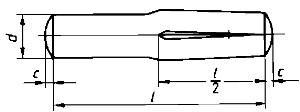 Steckkerbstift 5x16