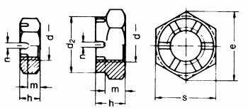 Kronenmutter flach M10