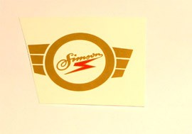 """Abziehbild Emblem """"Simson"""" für Tank Simson- Habicht"""
