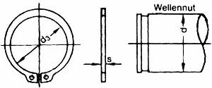 Aussen-Sicherungsring DIN471 Größe10