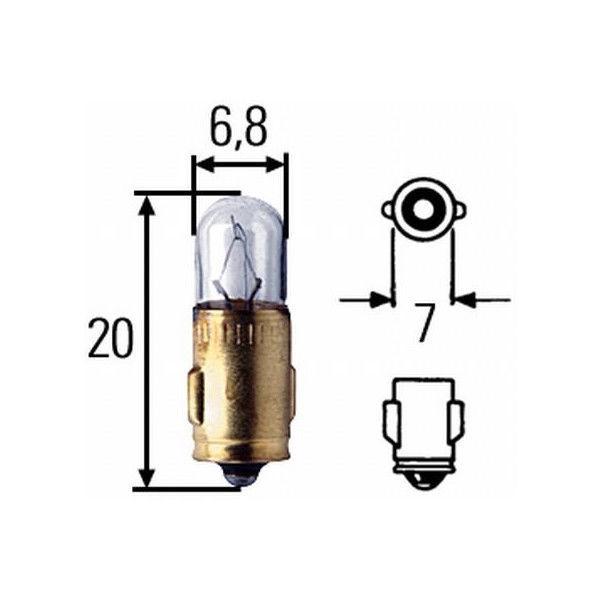 Kugellampe 12V/1,2W