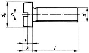 Zylinderschraube mit Schlitz M6x40