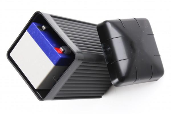 Batterie Gelakku 12V in schwarzem Gehäuse mit Deckel