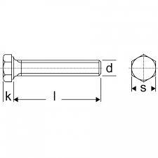 Sechskantschraube M8x1x30