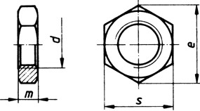 Sechskantmutter flach M14x1.5